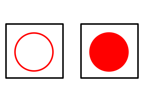 Easy Flag of Japan Coloring Page