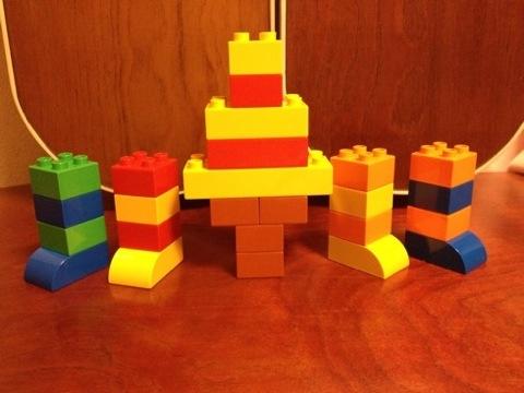 簡単なレゴ ソフトクリームとソックス