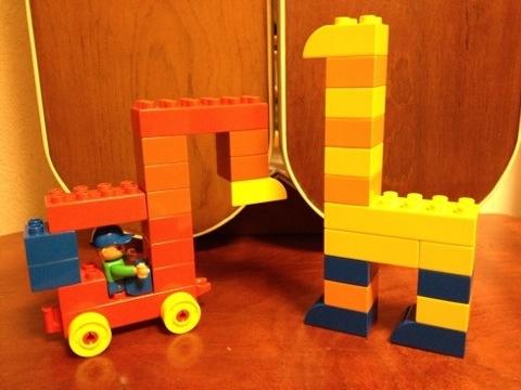 簡単なレゴ キリンとフォークレーン