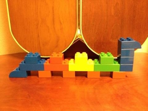 簡単なレゴ へび