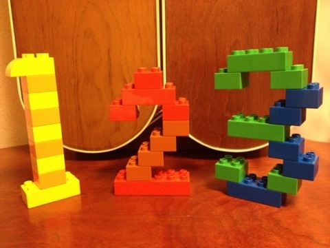 簡単なレゴ 数字