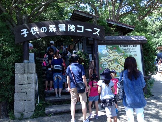 須磨離宮公園こどもの森冒険コース