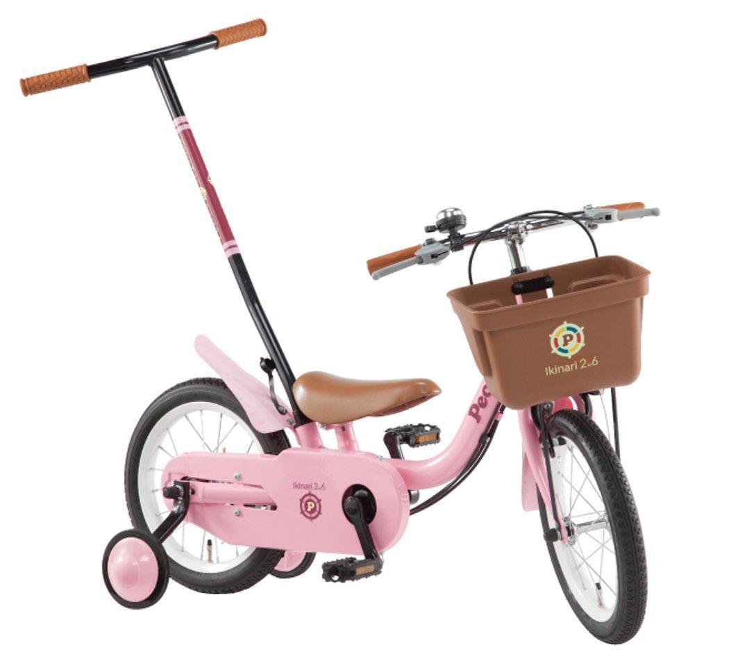 People(ピープル) いきなり自転車 2014年 ブリリアントカラー 14インチ [かじ取り式押し手棒付き