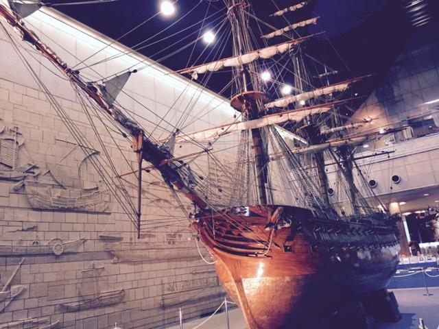 海洋博物館英国艦船ロドニー号