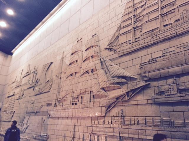 海洋博物館 内壁