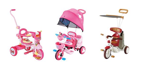 女の子(幼児)向け三輪車