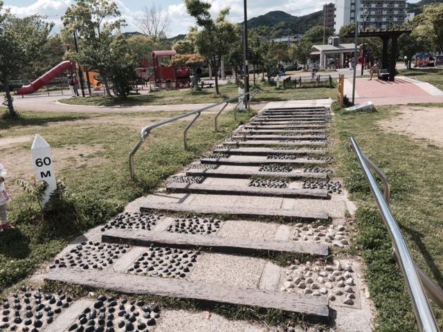 妙法寺川左岸公園 線路跡