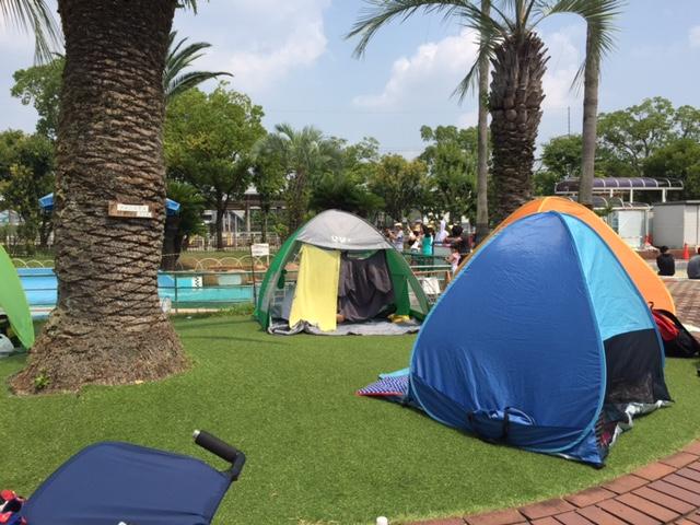 西猪名公園ウォーターランド テント