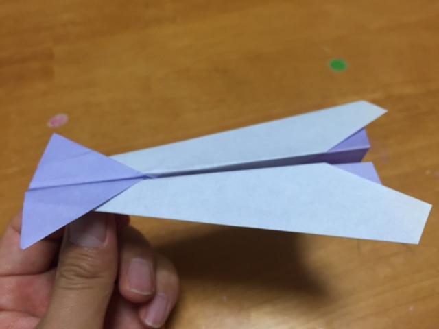 折り紙いか飛行機